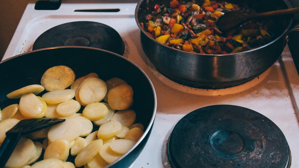 Kartoffeln und Gemüse